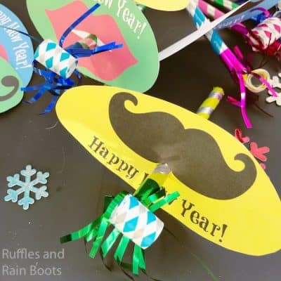 Free Printable New Years Party Blowers Kids Craft