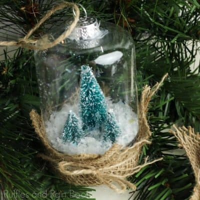 This Snow Globe Ornament Dollar Store Craft is Awesome!