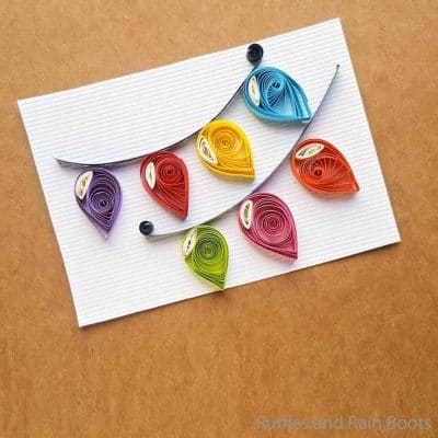 Easy Quilled Christmas Lights Kids Christmas Craft Idea