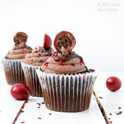 Decadent Chocolate Covered Cherry Cupcakes Melt-in-Your-Mouth