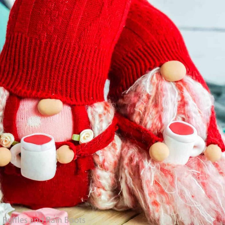 How to Make a Valentine Gnome - Heart Sock Gnome Couple