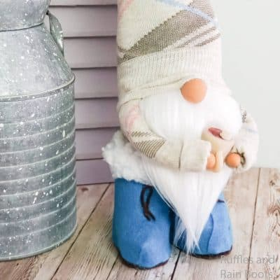 I Love This Easy DIY Spring Sock Gnome with Boots