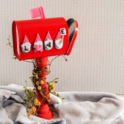 Make this Adorable Gnome Valentine Mailbox in Minutes!