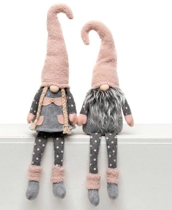 Large Pink and Grey Gnomes