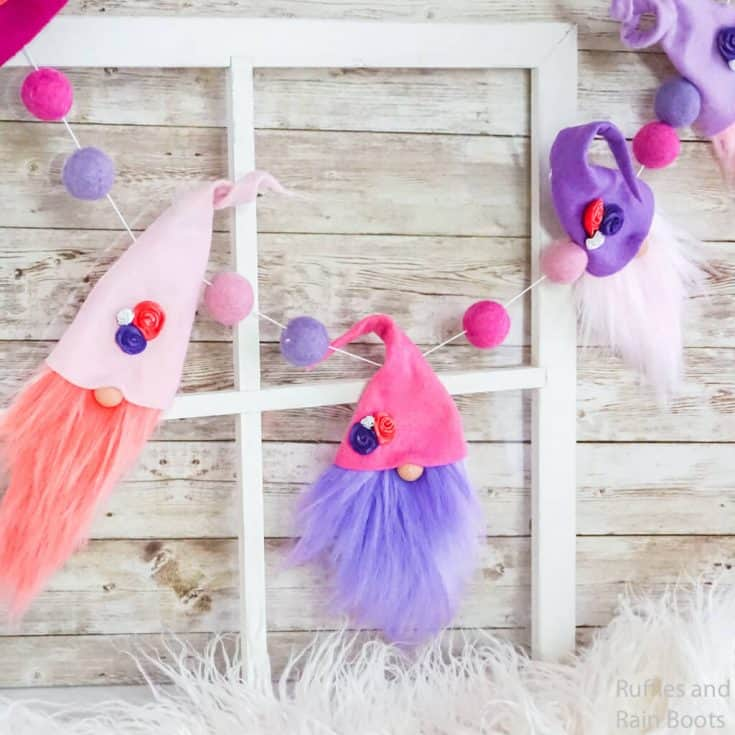 This Valentine Gnome Garland is the Cutest Valentine Garland EVER!