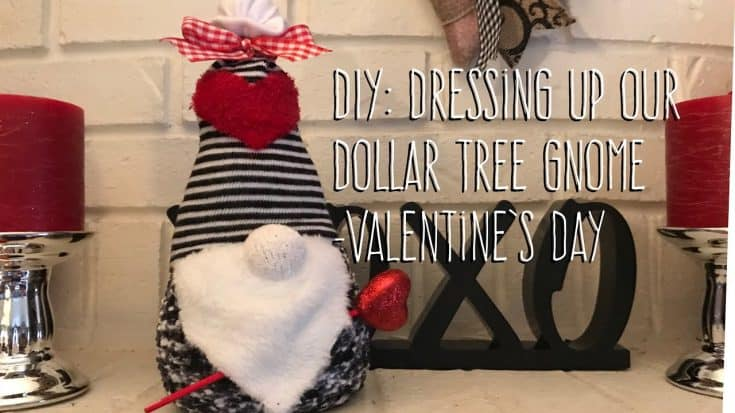 Dressing Up a Dollar Tree Gnome for Valentine's Day