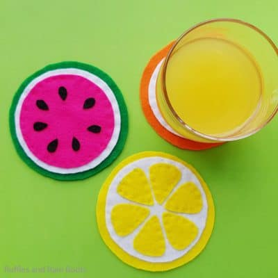 Make these Easy Fruit Coasters for a Fun Summer Craft!