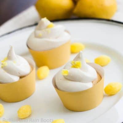 Lemonade Cupcakes are Perfect for a Summer Pool Party!