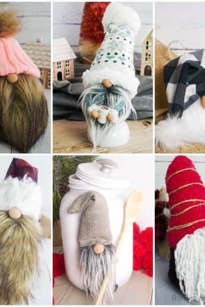 photo collage of easy patterns for gnomes