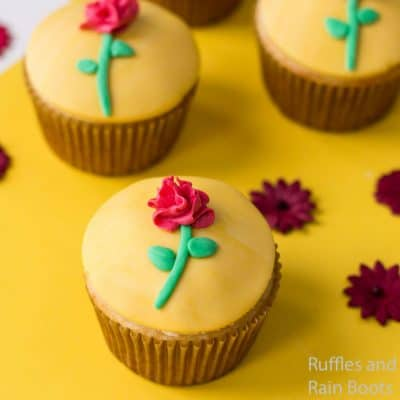 Make These Beauty and the Beast Princess Belle Cupcakes