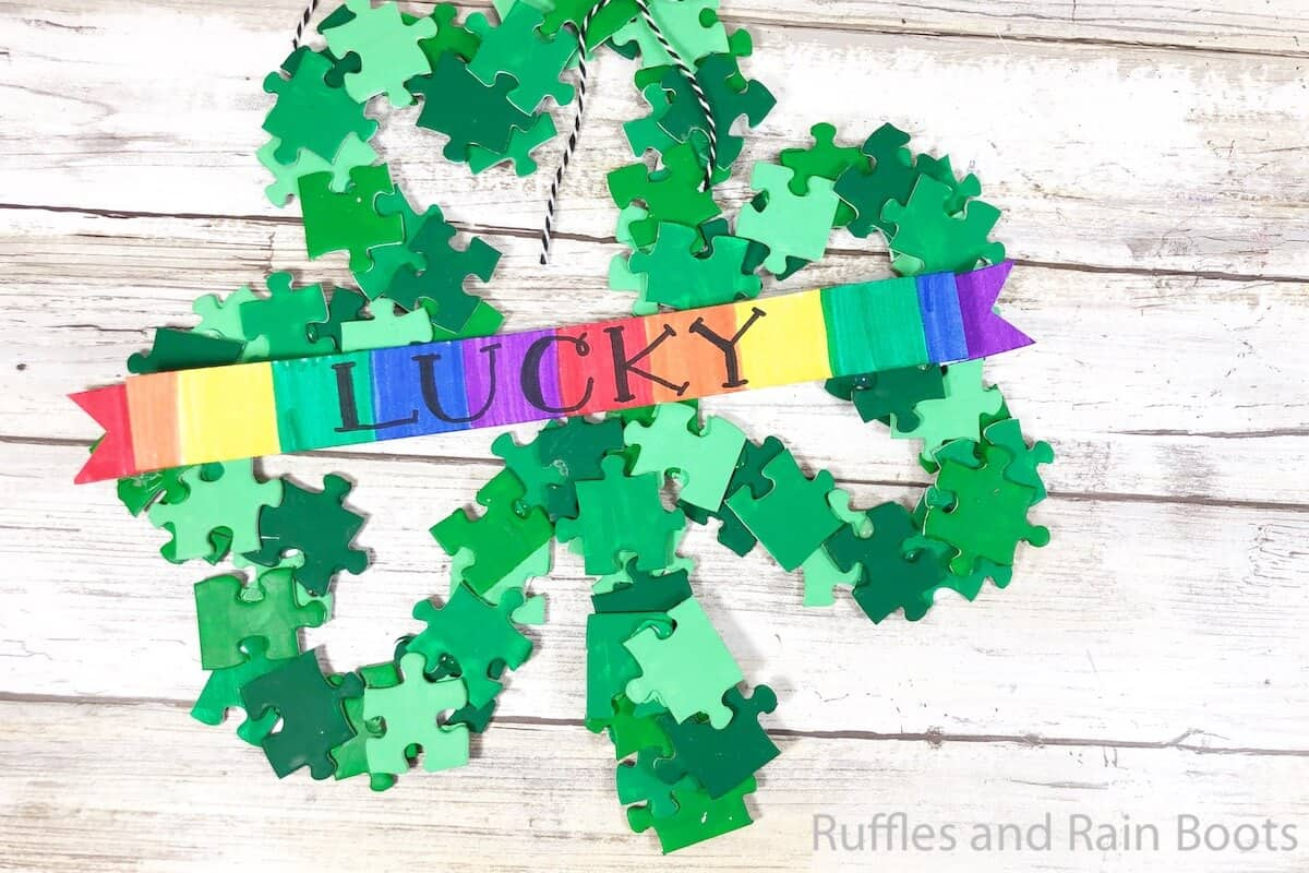 easy shamrock wreath you can make in minutes