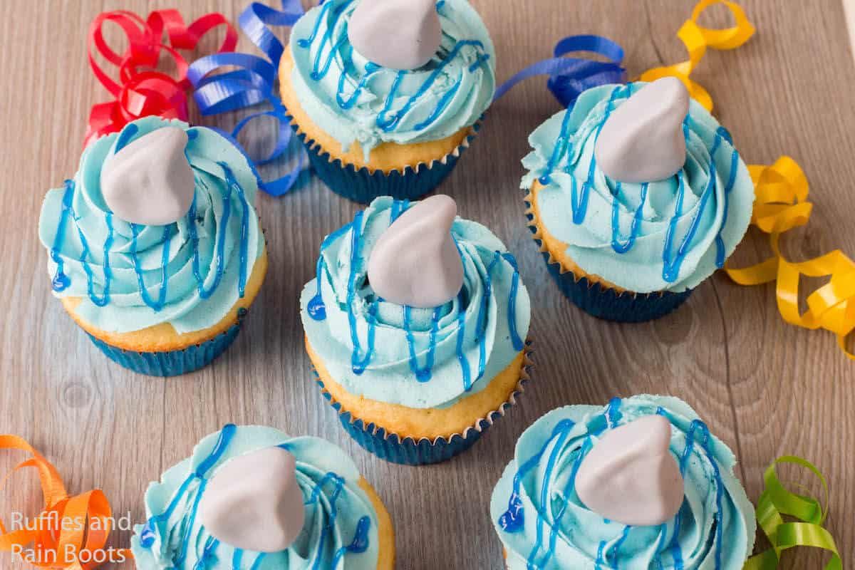 recipe for shark cupcakes