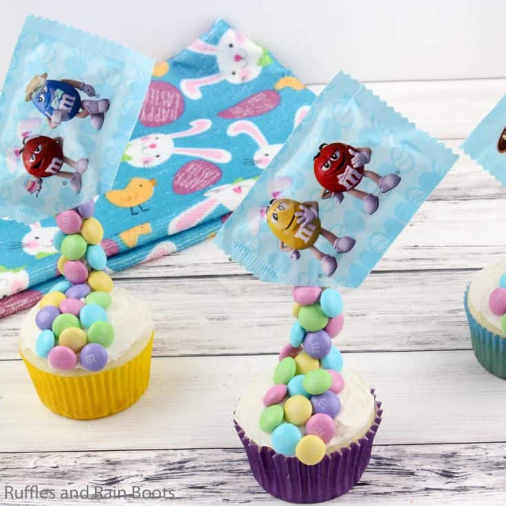 Easter Cupcakes with M&Ms