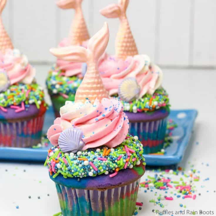 easy recipe for mermaid cupcakes