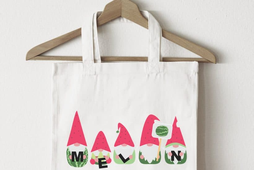 Watermelon Gnomes on a Bag