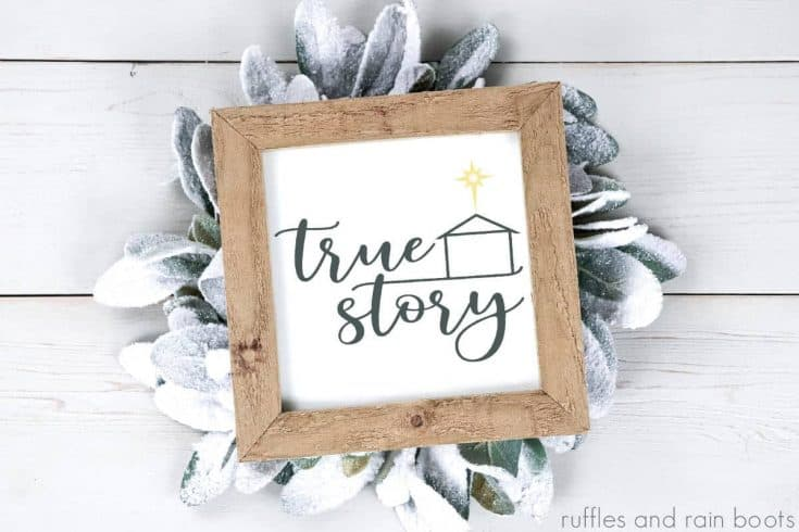 Use This Free True Story SVG for Holiday Decor and Gifts