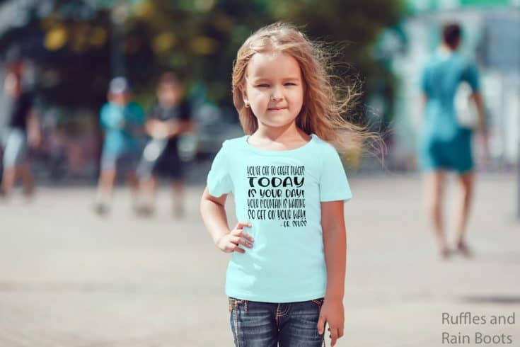 Use a Dr. Seuss Back to School SVG to Make a First Day of School Shirt