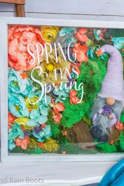 how to make a spring gnome in a shadowbox