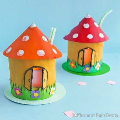 This Gnome Home Kid Craft is the Funnest Fairy House Ever!
