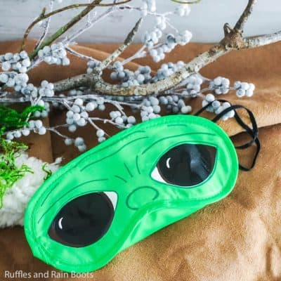 This Baby Yoda Sleep Mask is the Star Wars Craft of Your Dreams!