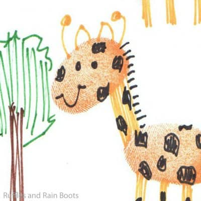 This Jungle Thumbprint Animal Art is So Much Fun for Kids–It's a Whole New Art Form!