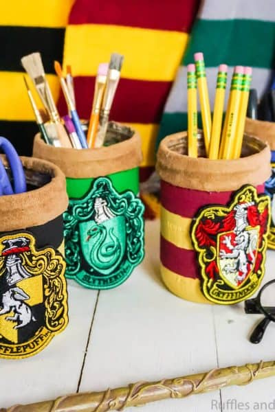 how to make hogwarts house harry potter mason jars