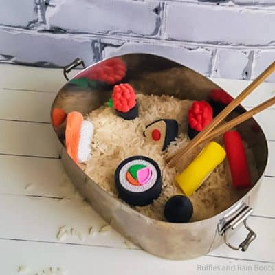 This Sushi Sensory Bin is So Fun and Silly–I Want to Play With It!