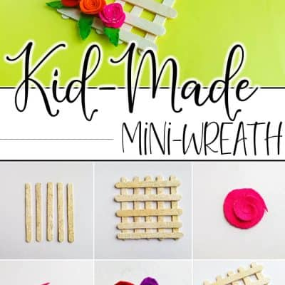 This Easy Popsicle Stick Wreath Craft for Kids is a Fun Spring Craft!
