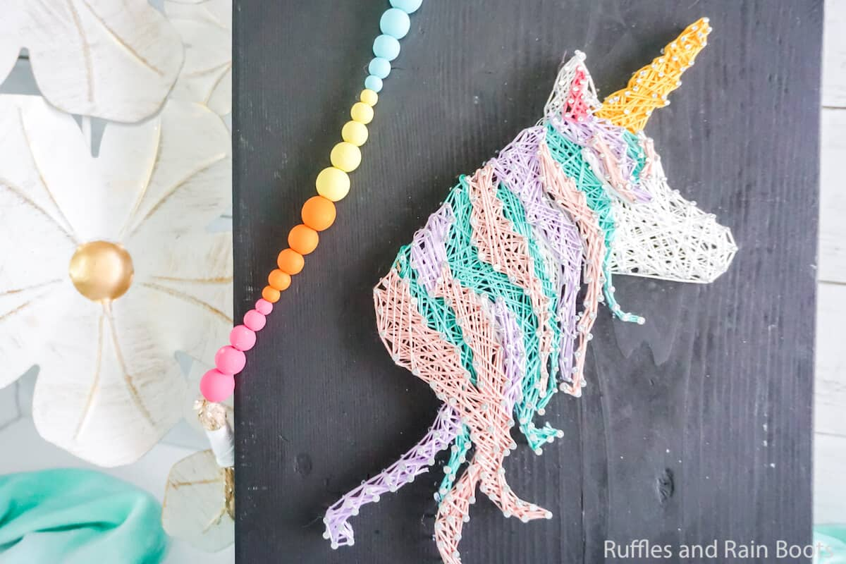 free pattern for a string art unicorn