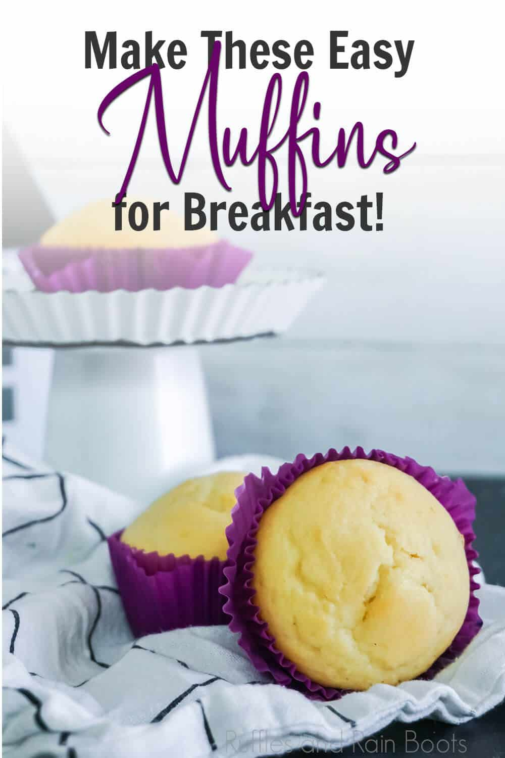 easy recipe for breakfast muffins with text which reads make these easy muffins for breakfast!