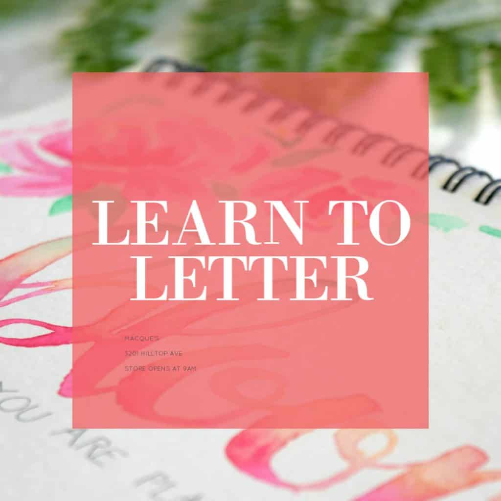 learn how to hand letter using free lettering practice sheets for flourish brush lettering and bounce