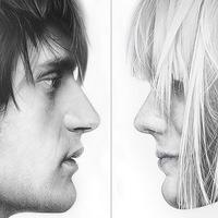 Pinturas de rostros masculinos y femeninos pintados al oleo %288%29