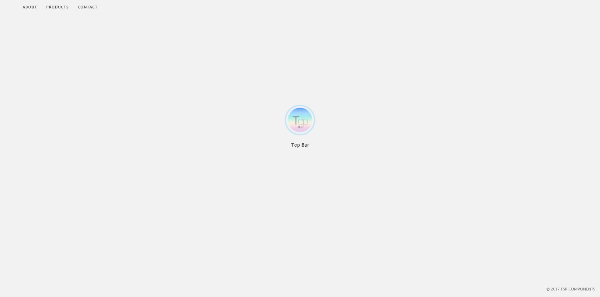 FSR Components - Top Bar (Desktop)