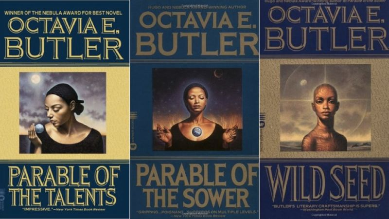book covers of Octavia Butler books