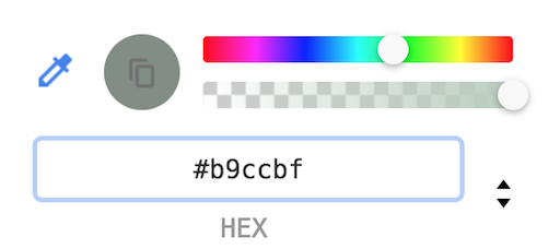 Image of part of Chrome's color picker