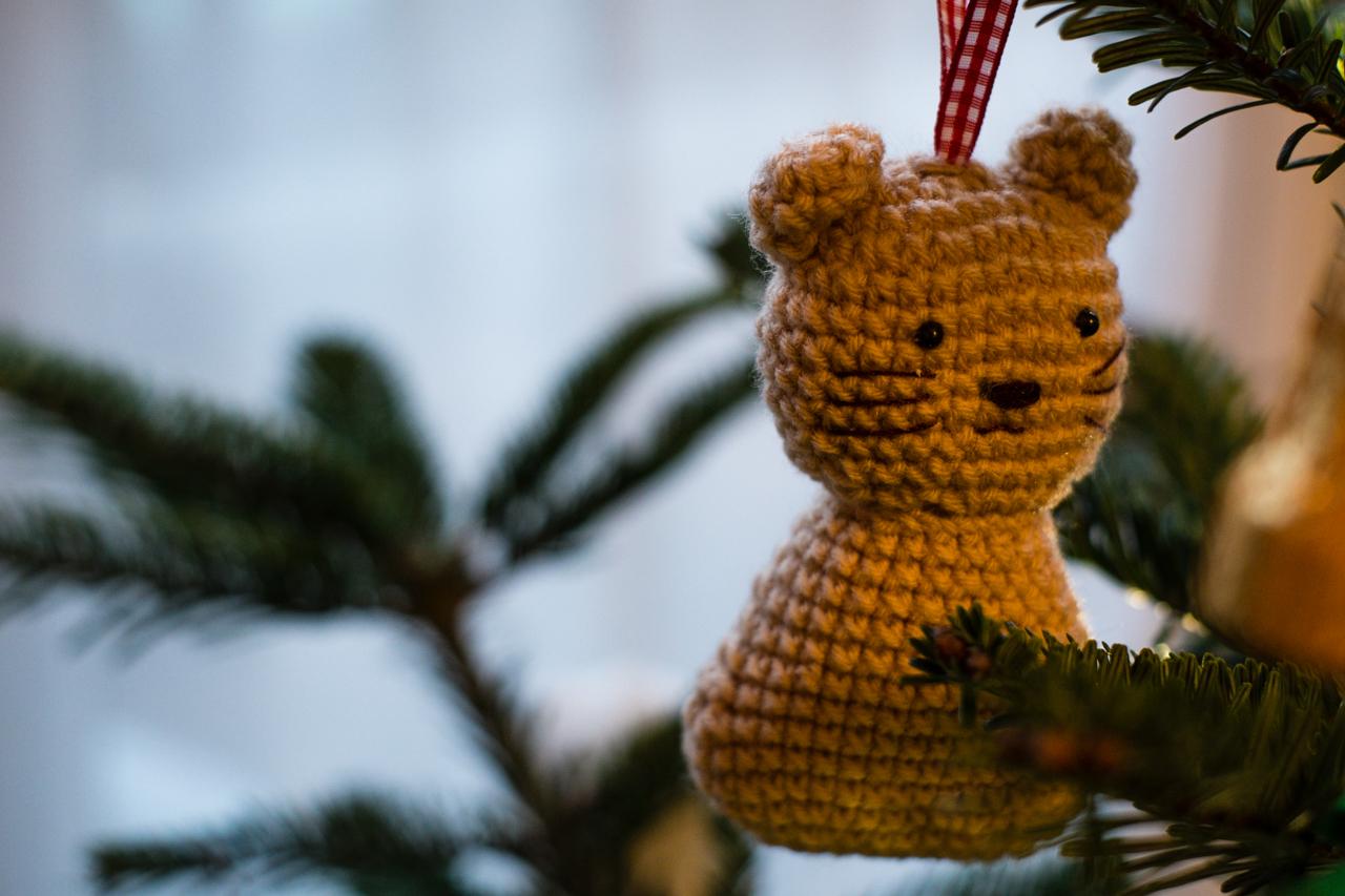 Weird bear/cat decoration