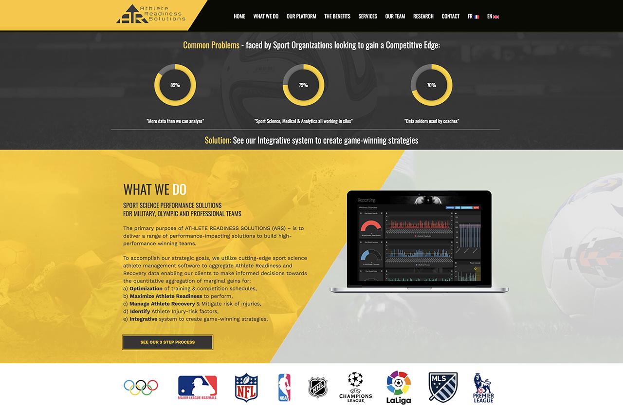 ARS desktop Homepage Mockup