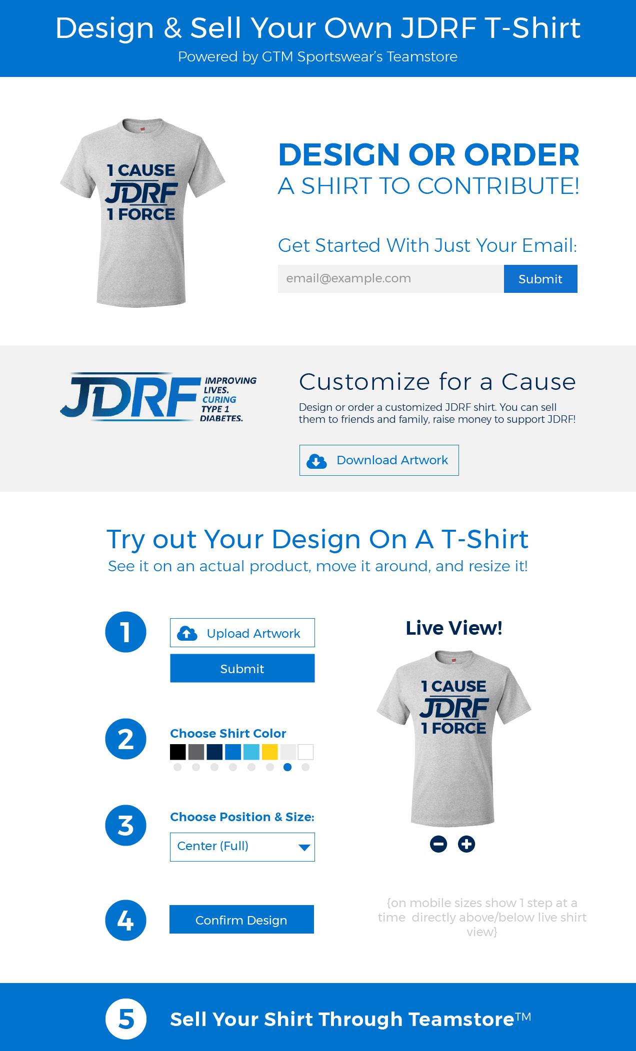 JDRF Fundaraising Platform