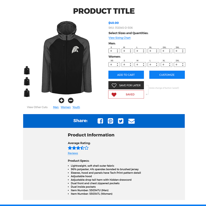 Teamstore Product View