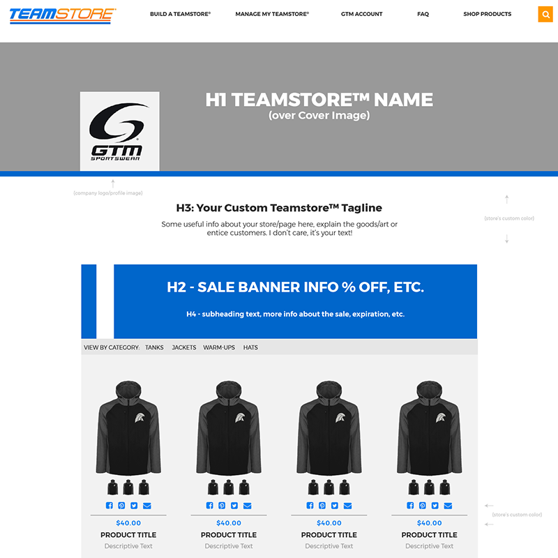Teamstore Storefront Profile View