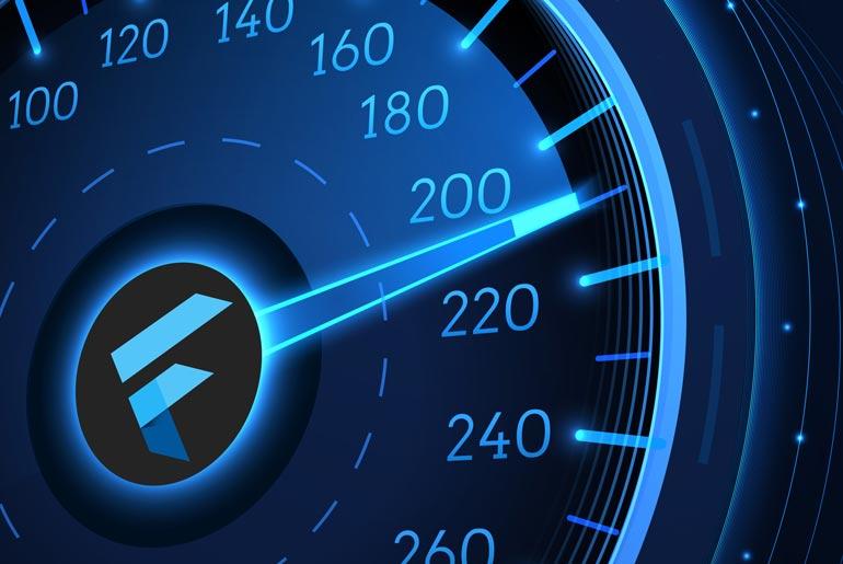 fast app development with flutter