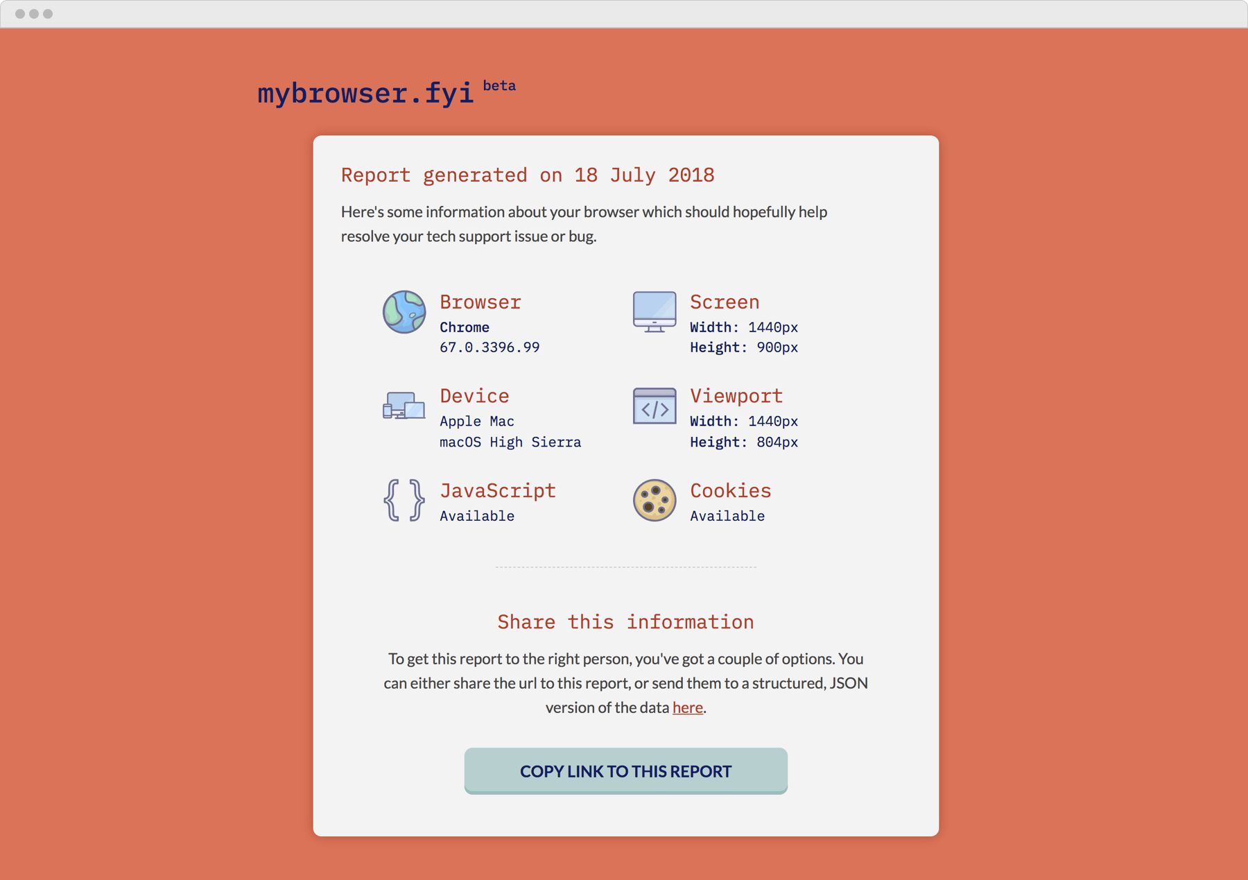 A screenshot of the My Browser app