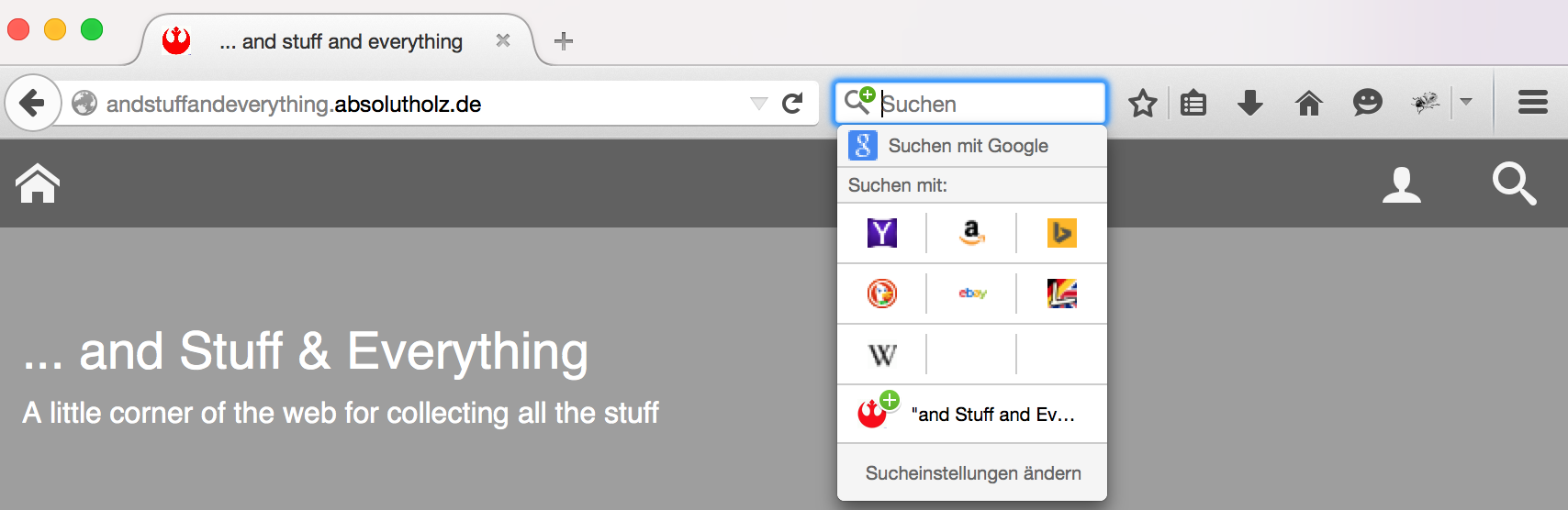 Add new OpenSearch Site Search to Firefox Omnibox - Step 2