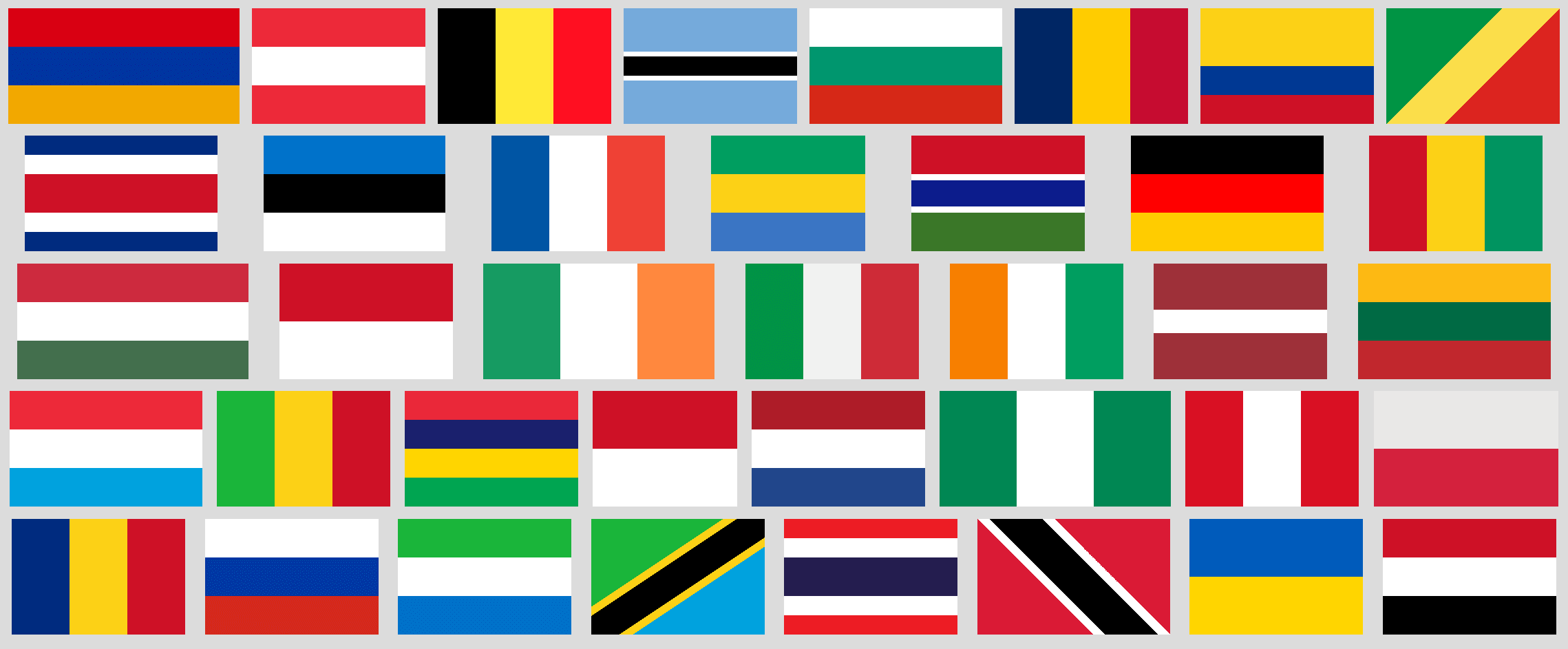 2 and 3 stripe flags