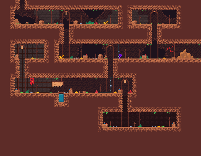 The Mine: No JS, CSS only adventure game