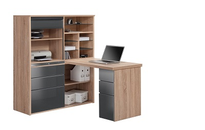 Schreibtisch-Regalkombi