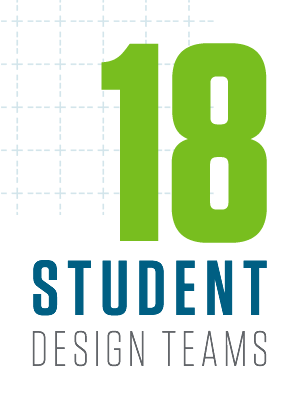 Home to 18 student design teams that give students the opportunity to develop their problem-solving, teamwork and business skills while designing and building racecars, robots, rockets, genetically engineered machines and more.