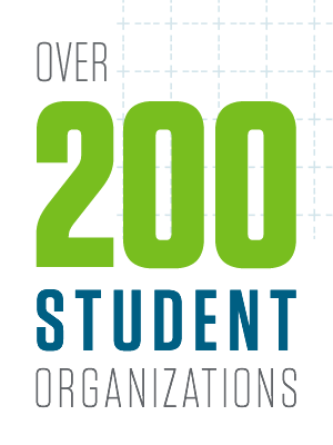 Over 200 student organizations. Whether you're into longboarding, running, spelunking, barbecuing or blacksmithing, Missouri S&T has an organization for you.