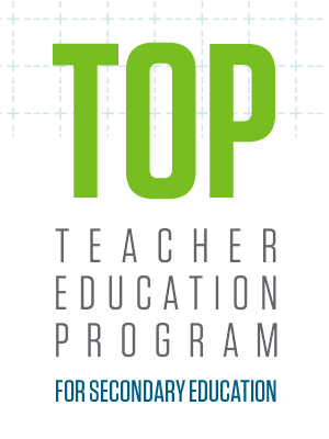 Top teacher education program for secondary education in Missouri, as determined by the National Council on Teacher Quality (September 2015).