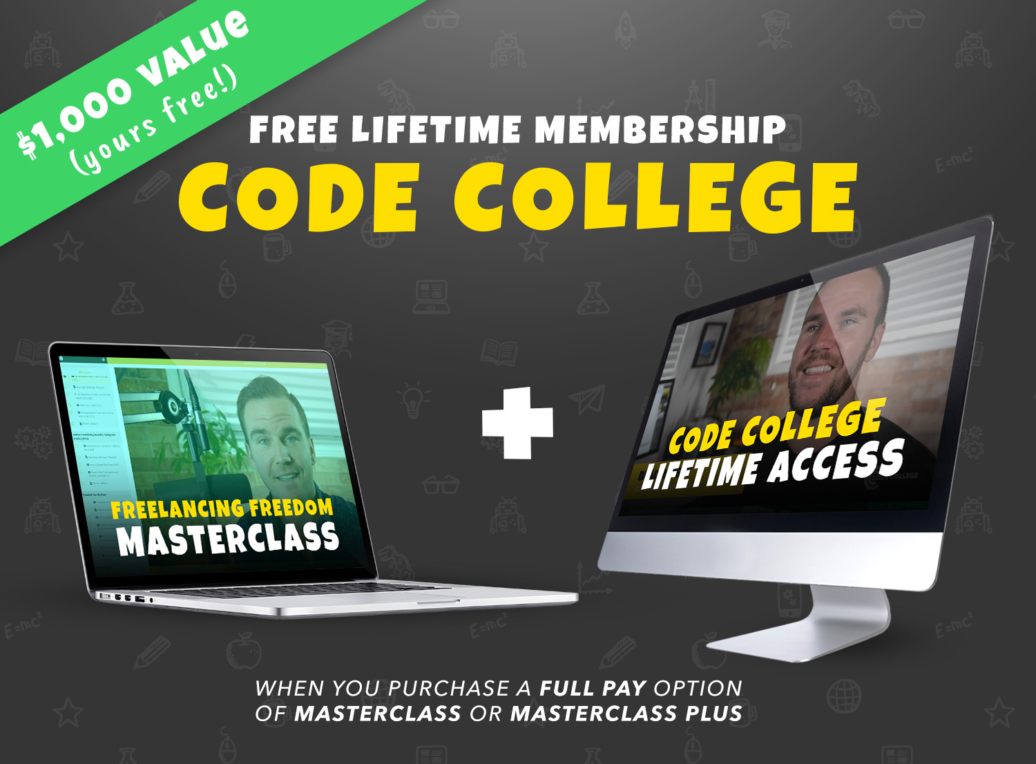 Lifetime Code College Bonus